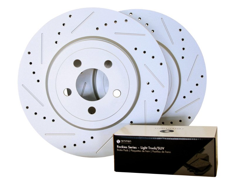 2004-2011 Ford F-150 Brake Kit (Light Truck/SUV, XD and Slotted Rotors) -  Rear - Remmen Brakes